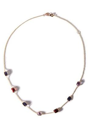 Ippolita Woman Gold-tone Stone Necklace Violet Size -