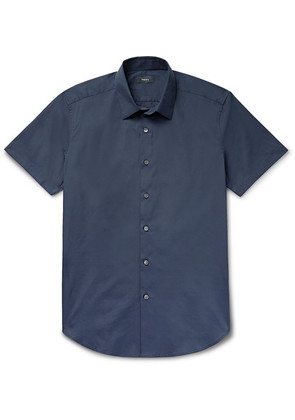 Sylvain Slim-fit Stretch Cotton-blend Shirt
