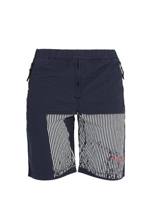 Marina striped cotton-blend shorts
