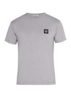 Logo-appliqué cotton T-shirt