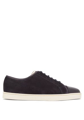 Levah low-top suede trainers