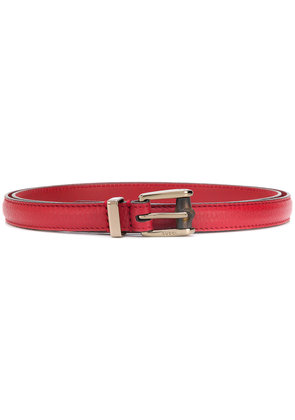 Gucci classic buckle belt - Red