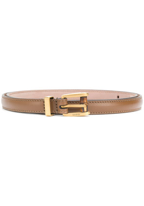 Gucci classic buckle belt - Brown
