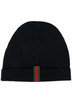 Gucci striped detailing beanie - Blue