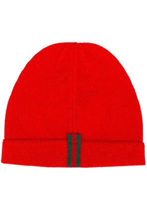 Gucci striped detailing beanie - Red