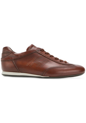 Hogan flat lace up sneakers - Brown