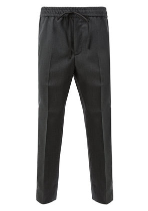 Gucci side stripe cropped trousers - Grey