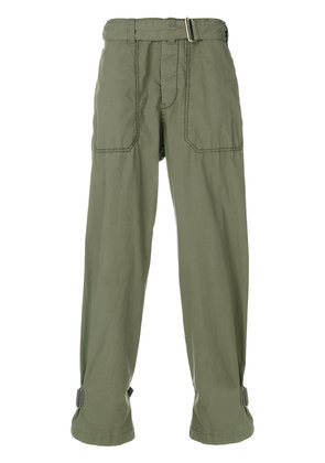 Sacai belted cargo trousers - Green