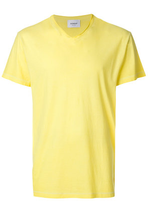 Dondup raw V-neck T-shirt - Yellow & Orange