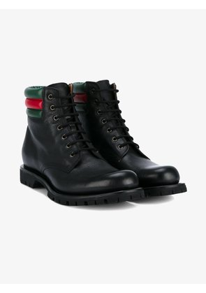 Gucci web detail military boots