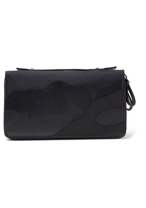 Valentino Garavani Camouflage-print Leather And Canvas Wash Bag