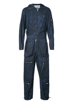 Off-White space-print jumpsuit - Blue