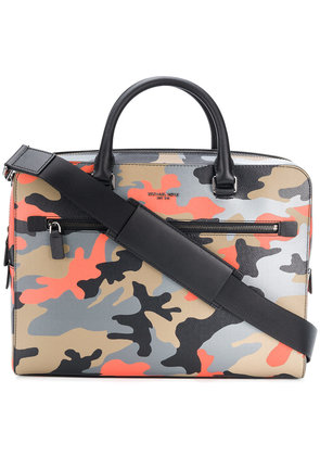 Michael Kors Collection Harrison camouflage-print briefcase -