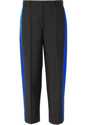Givenchy - Striped Mohair And Wool-blend Straight-leg Pants - Black