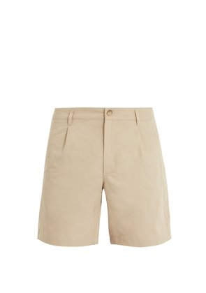 Benjamin cotton and linen-blend chino shorts