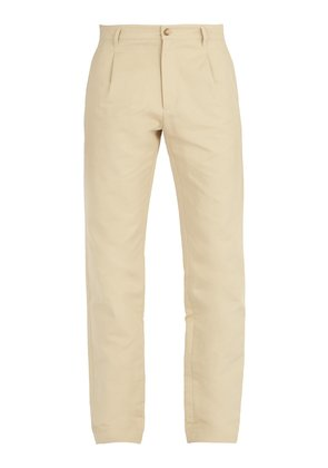 Florian cotton and linen-blend chino trousers