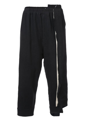 By Walid cropped layered trousers - Black