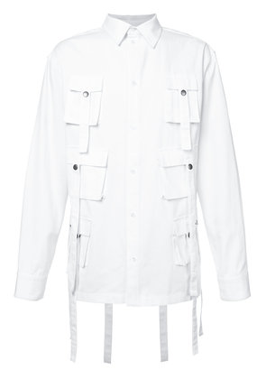 D.Gnak multi pockets shirt - White