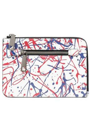 Marc Jacobs Woman Printed Textured-leather Kindle Case White Size -