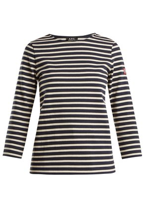 Nikki long-sleeved striped cotton top