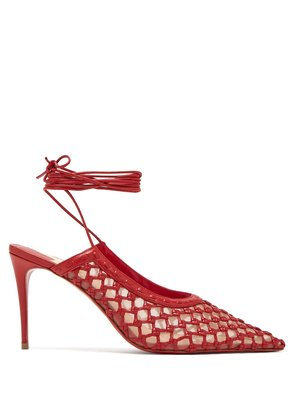 X Roland Mouret Cage and Curry leather pumps