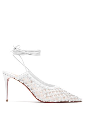 X Roland Mouret Cage and Curry 85 leather pumps