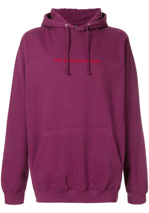 F.A.M.T. This Is Not For Everyone hoodie - Pink & Purple