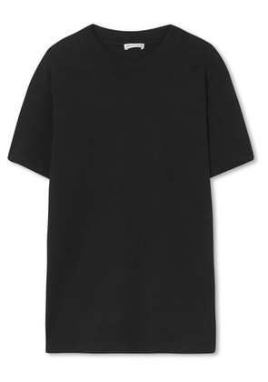 Balenciaga - Appliqued Cotton-jersey T-shirt - Black