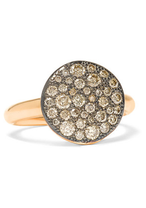 Pomellato - Sabbia 18-karat Rose Gold Diamond Ring - 11