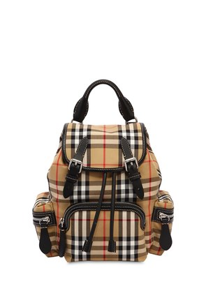 SMALL RUCKSACK CHECK COTTON BACKPACK