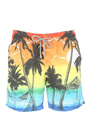 BARBADOS SUNSET MICRO FIBER SWIM SHORTS