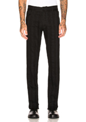 Ann Demeulemeester Trousers in Black,Stripes