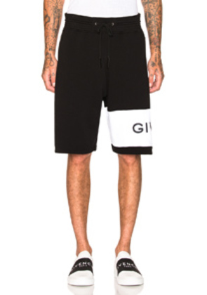 Givenchy Logo Sweatshorts in Black