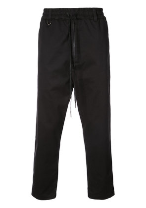 The Celect cropped tailored track pants - Black