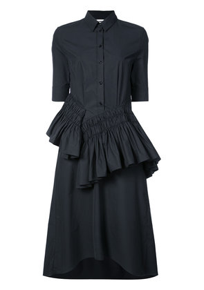 Jil Sander ruffled dress - Black