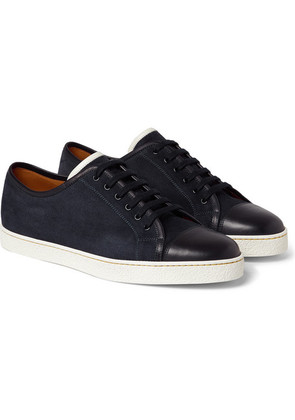Levah Cap-toe Suede And Leather Sneakers