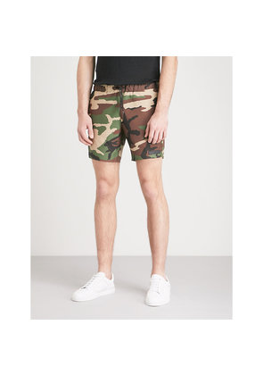 Camouflage-print relaxed-fit swim shorts