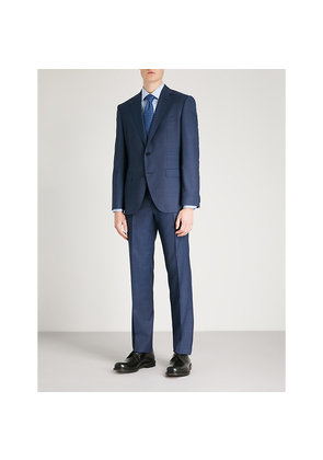 Textured regular-fit wool suit