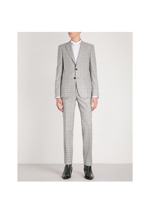 Glittered slim-fit wool-blend suit