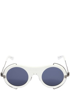 MATTE WHITE ACETATE SUNGLASSES