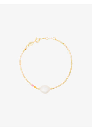 Anni Lu gold plated sterling silver Baroque pearl gemstone bracelet