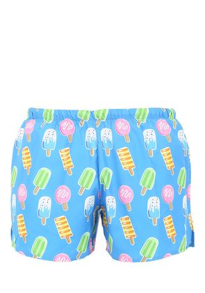 ICE CREAM PRINT NYLON SWIM SHORTS