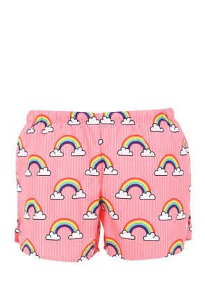 RAINBOW PRINT NYLON SWIM SHORTS