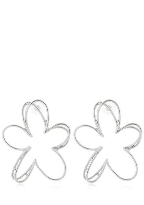 BOTANICAL SCRIBBLE FLOWER EARRINGS