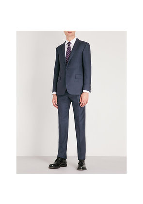 Tailored-fit wool suit