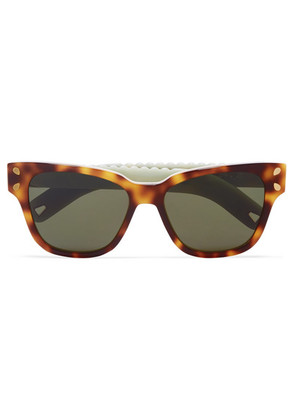 Lucy Folk - Diving For Gold Cat-eye Tortoiseshell Acetate Sunglasses - one size