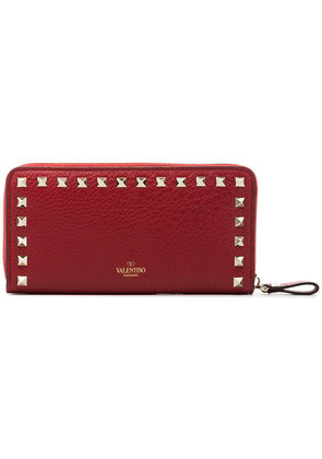 Valentino red Rockstud leather wallet