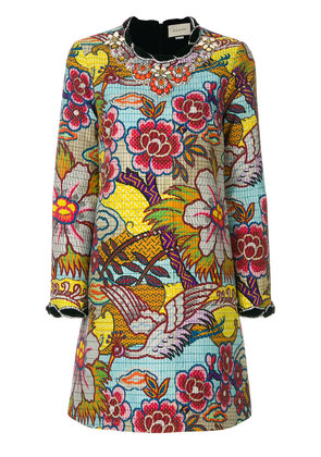 Gucci embellished floral print dress - Multicolour