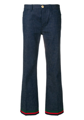 Gucci bunny patch trousers - Blue