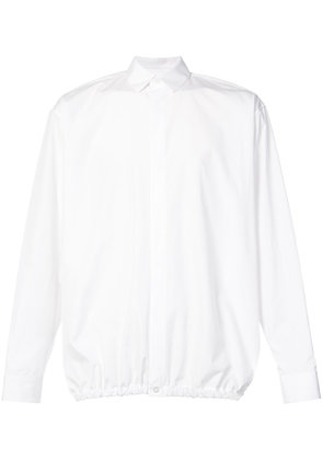 Jil Sander gathered-hem fitted shirt - White